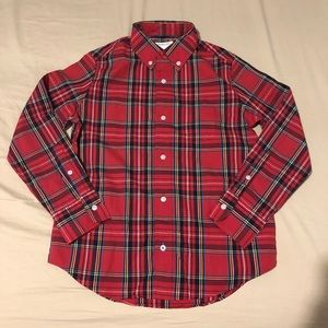 NWT Red Plaid Long Sleeve Button Down
